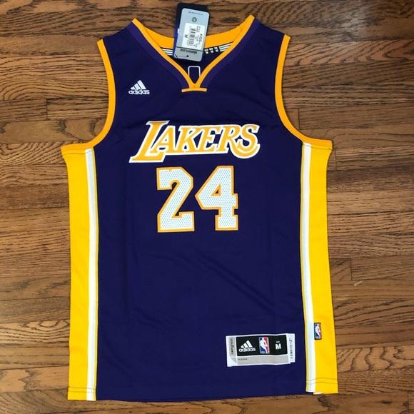 Shirts & Tops | Kobe Bryant 24 Purple Lakers Youth Kids Jersey ...